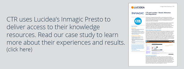 Read the CTR - Inmagic Presto Case Study