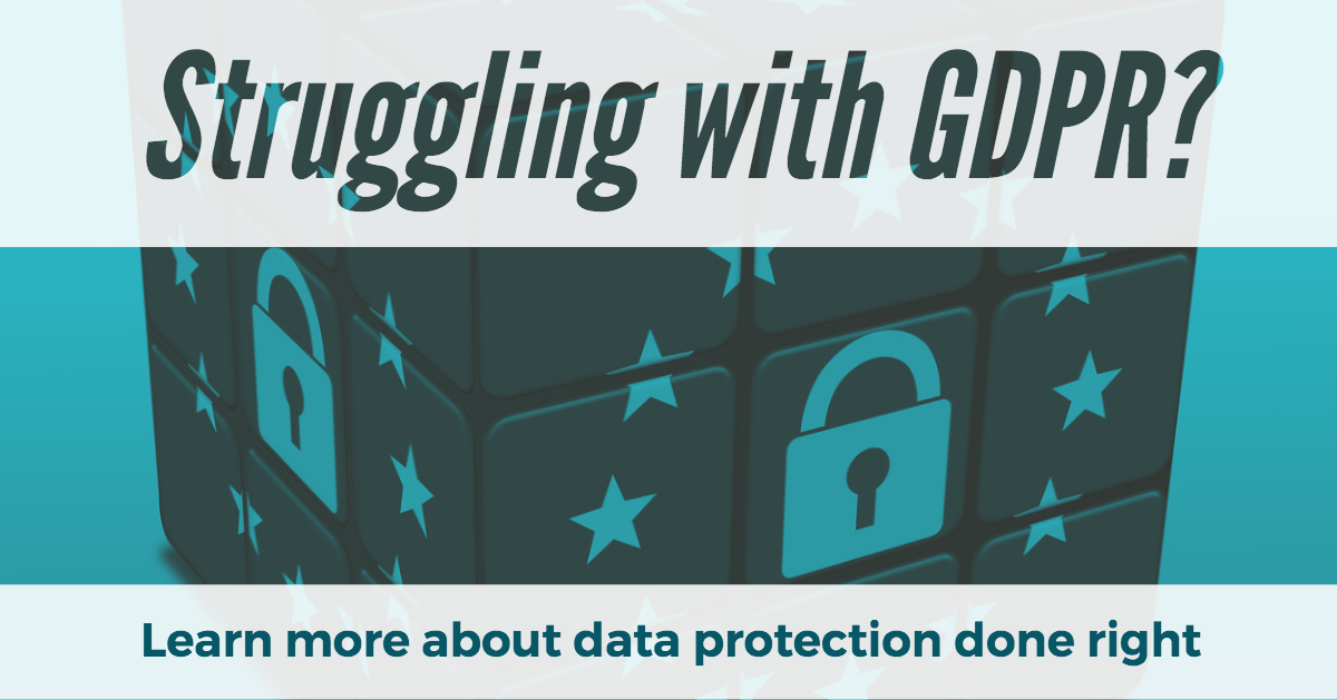 Click here to learn more about GDPR and data protection, done right.