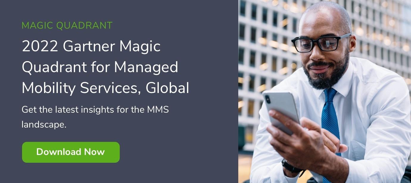 2021 Gartner Magic Quadrant for Managed Mobility Services, Global