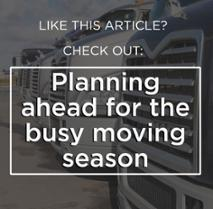 Planning ahead for the busy moving season