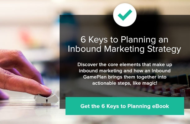 Download our 6 Keys to Planning an Inbound Marketing Strategy Book
