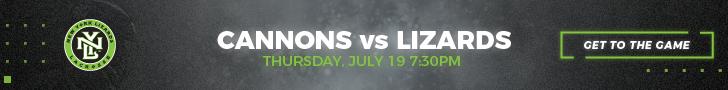 Boston Cannons vs. NY Lizards | Thursday, July 19, 2018 | 7:30PM | Shuart Stadium