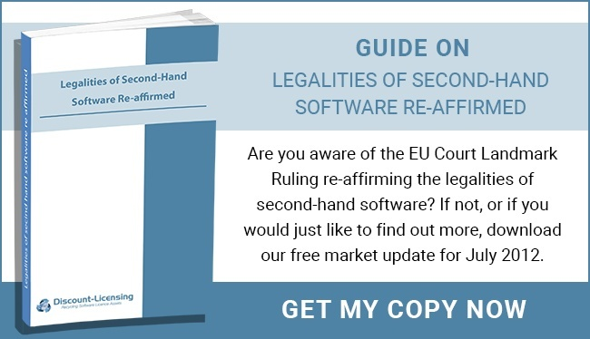 Legalities Of Second-Hand Software Re-Affirmed