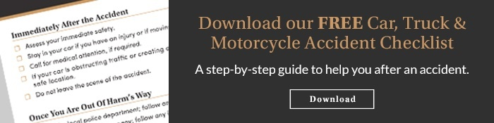 Car, Truck & Motorcycle Accident Checklist