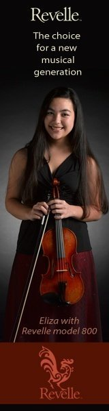 Revelle The Choice For a New Musical Generation, Image of young girl holding Revelle violin