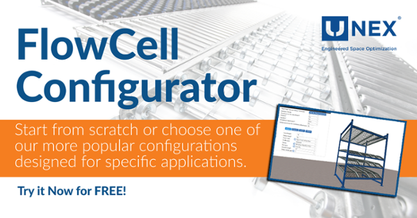 UNEX FlowCell Configurator - Build a Modular Storage Solution in Minutes.