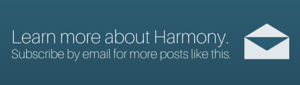 subscribe by email to the harmony blog