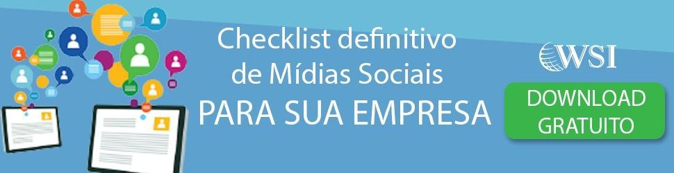 Checklist Mídias Sociais