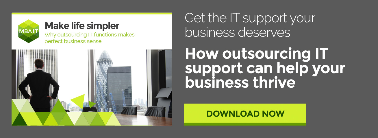 Outsourcing IT support ebook CTA