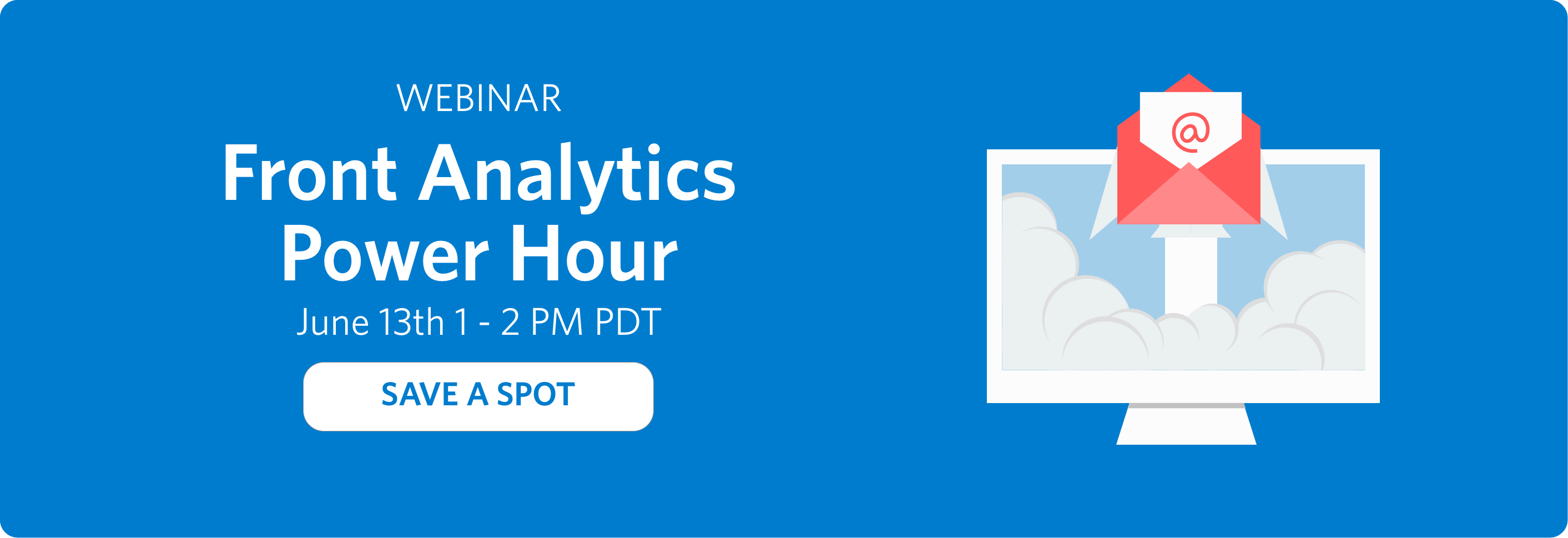 Register for the Front Analytics Power Hour Webinar