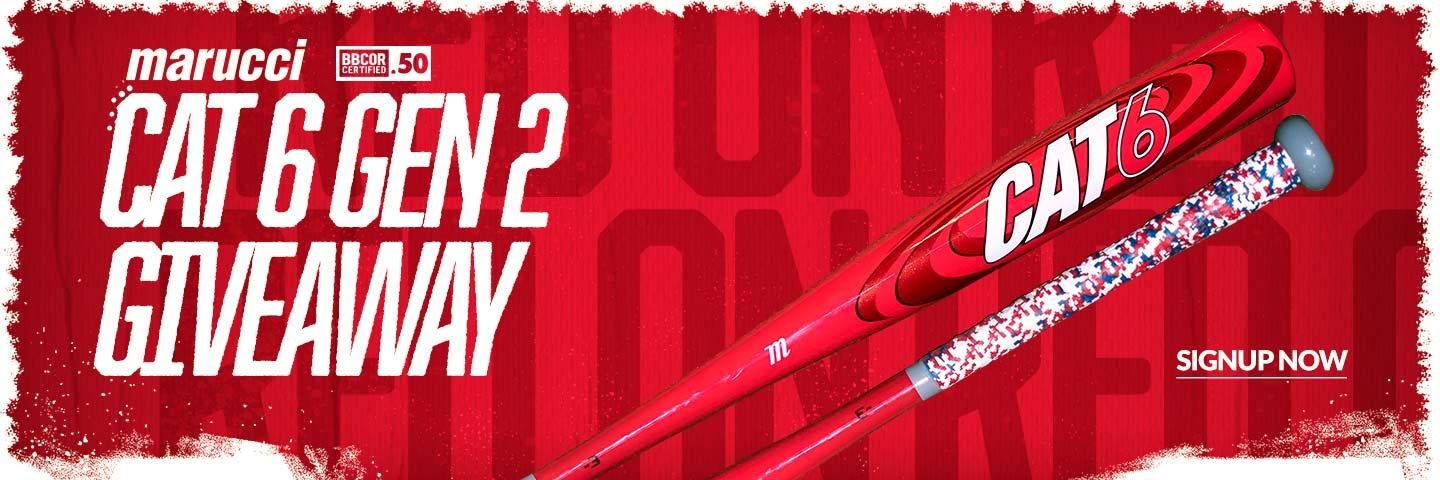 Want to win a Marucci Cat 6 GEN 2 BBCOR Bat? Signup now