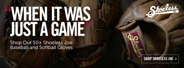 Vintage Softball Gloves and Baseball Gloves from Shoeless Joe