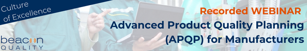 Advanced Produce Quality Planning for Manufacturers Recorded Webinar