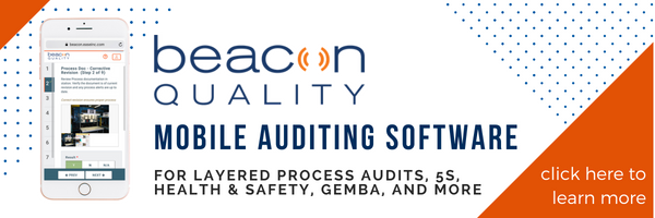 mobile auditing software for layered process audits