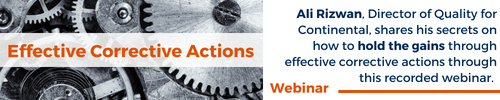 Effective Corrective Actions Recorded Webinar