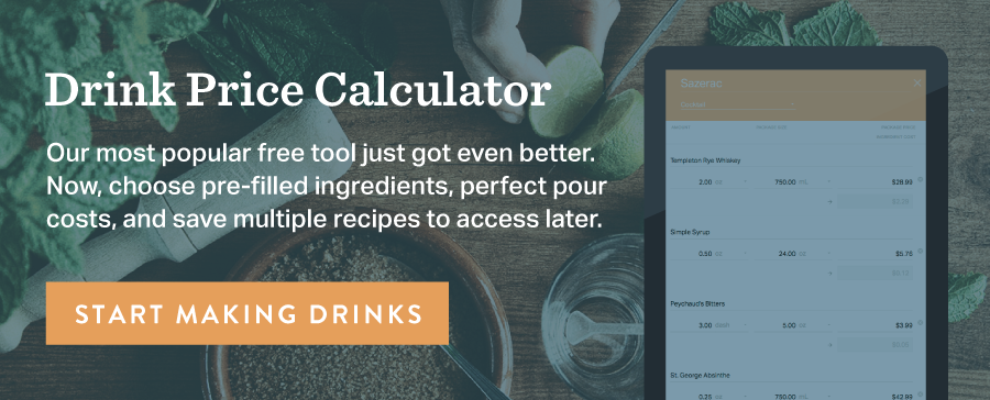 Drink Price and Pour Cost Calculator