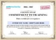 Certificate to commitment