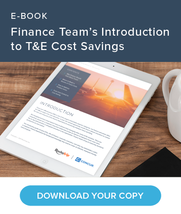 E-BOOK: Finance Team's Introduction to T&E Cost Savings. Download Your Copy.