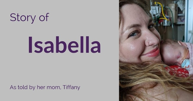 Meet Isabella, she received Prolacta fortifier