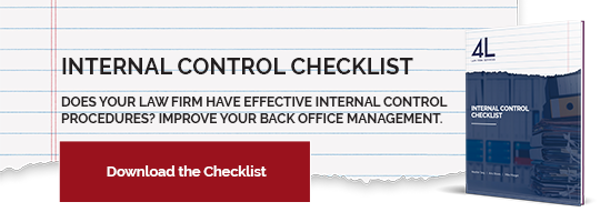 law firm internal control checklist