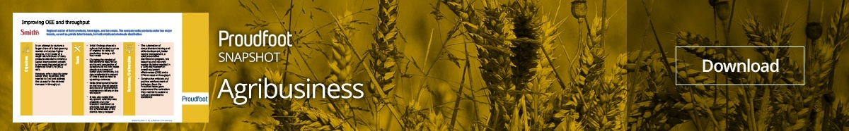 Agribusiness Snapshot Improving OEE