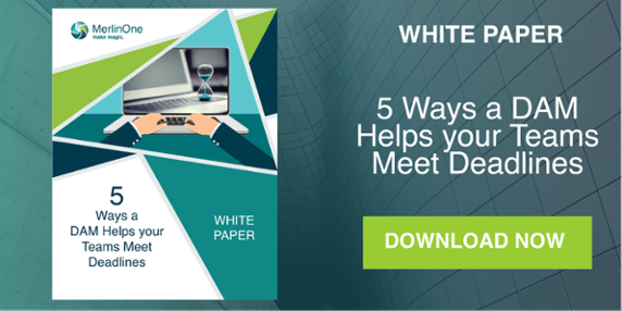 MerlinOne CTA 5 Ways a DAM Helps your Teams Meet Deadlines White Paper Download