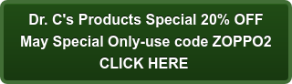 Dr. C's Products Special 20% OFF May Special Only-use code ZOPPO2 CLICK HERE