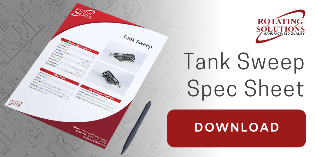 Tank Sweep Spec Sheet | Rotating Solutions