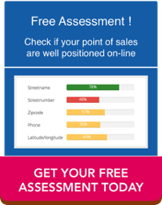Check if your point of sales are well positioned on-line