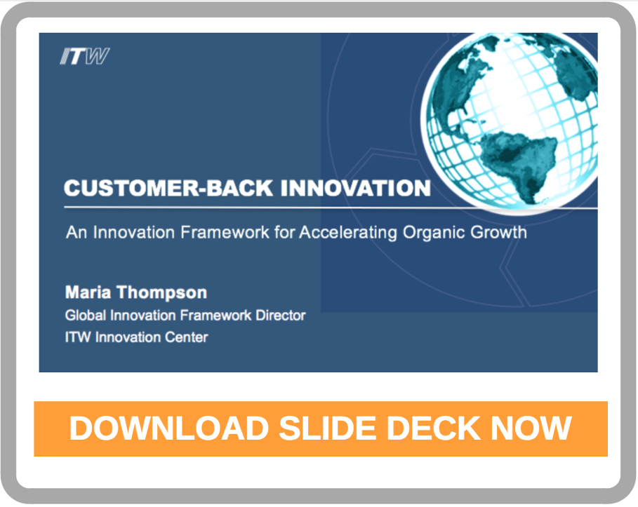 Customer-Back Innovation; An Innovation Framework for Accelerating Organic Growth