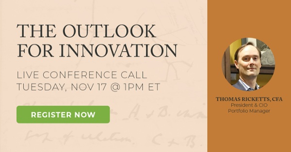 The Outlook For Innovation - Live Call November 17, 2020 at 1PM