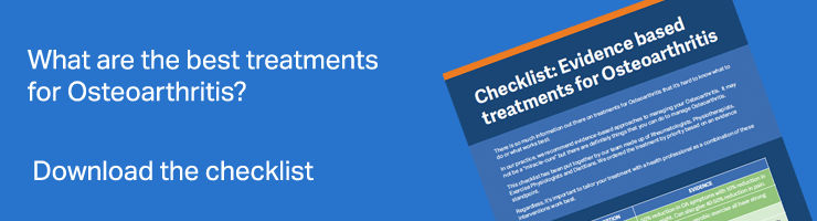 Osteoarthritis treatment checklist