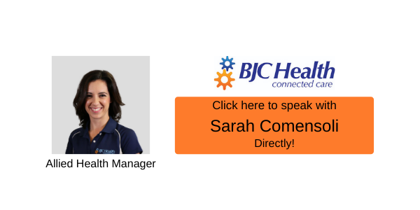 Sarah Comensoli-Allied Health Manager