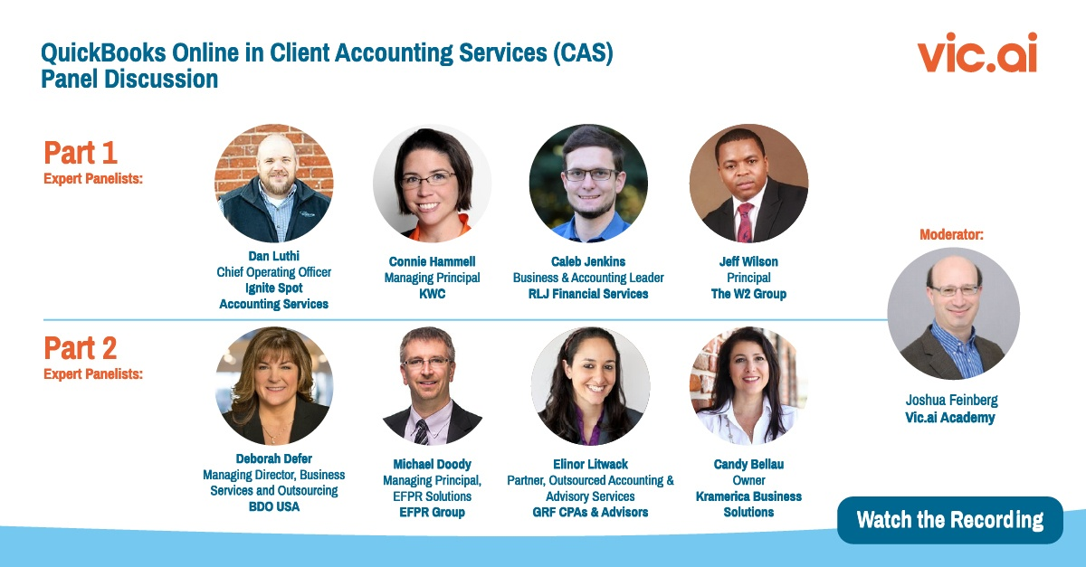 """Watch the """"QuickBooks Online in Client Accounting Services (CAS) Panel Discussion"""" (Webinar Recording)"""