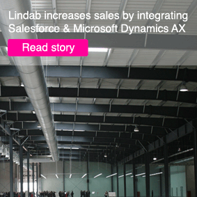 Download Lindab Case story on how to integrate salesforce and MS Dynamics AX