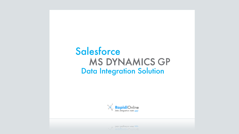 Download Ebook: Salesforce - MS Dynamics GP Integration