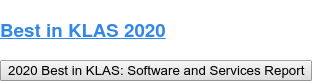 Best in KLAS 2020 2020 Best in KLAS: Software and Services Report