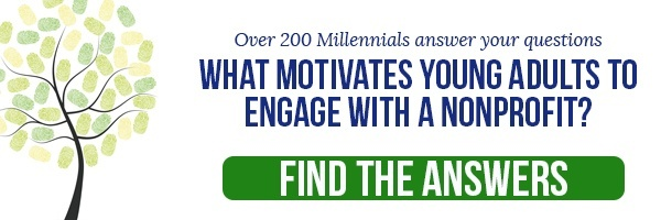 What motivates young adults to engae with a nonprofit? Find the Answers