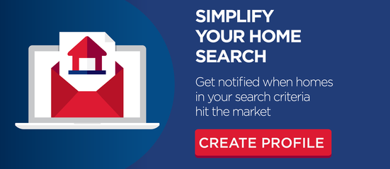 Create profile and search homes for sale