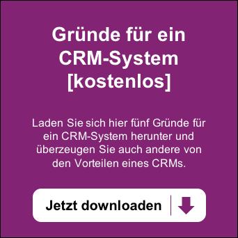 Kostenloses Whitepaper mit fünf Gründen für ein CRM - Jetzt downloaden >>