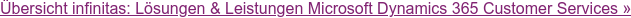Übersicht infinitas: Lösungen & Leistungen Microsoft Dynamics 365 Customer  Services »
