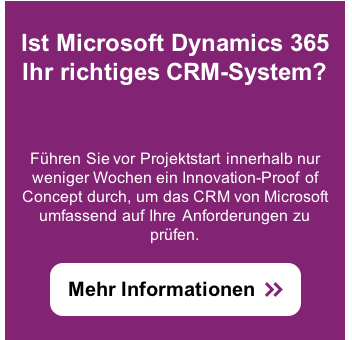 Innovation-Proof of Concept mit Microsoft Dynamics 365: Innovativ und kostengünstig starten.