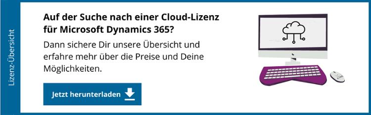 Das neue Lizenzmodell für Microsoft Dynamics 365 (Cloud): Jetzt sichern!