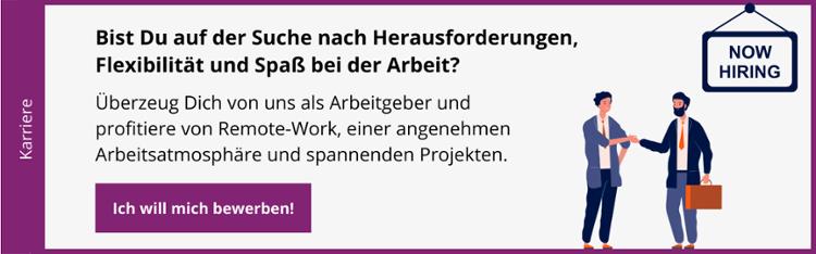 Bewirb Dich jetzt bei der infinitas GmbH
