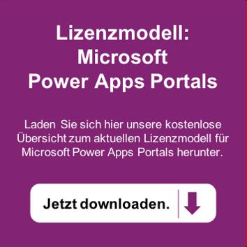 Microsoft Power Apps Portals Lizenzierung