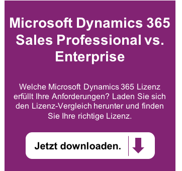 Microsoft Dynamics 365 Sales Professional vs. Enterprise – Funktionalitäten-Vergleich jetzt downloaden >>