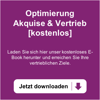 Erreichen Sie Ihre Vertriebsziele? Laden Sie sich hier unser kostenloses E-Book herunter und optimieren Sie Ihre Akquise.