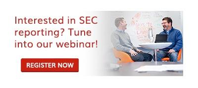 SEC reporting webinar