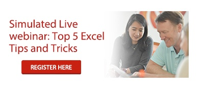 FREE CPE-eligible webinar: Top 5 Excel Tips and Tricks