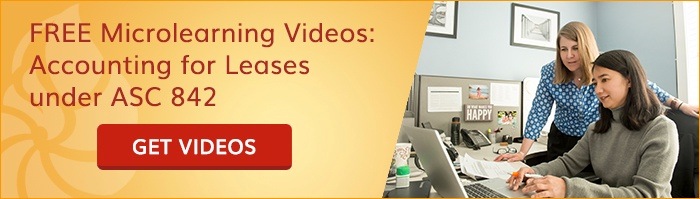 Free microlearning videos: Accounting for Leases under ASC 842